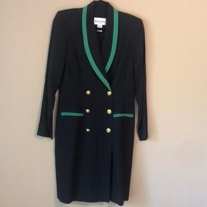 Vintage Danny & Nicole Double Breasted Coat Dress